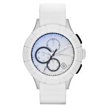 Marc Jacobs Buzz Track White Man Chronograph Watch [MBM5542]