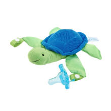 Dr. Brown's Turtle Lovey with Blue One Piece Pacifier Dot Bayi - Blue Green