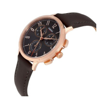 FOSSIL CH3099 D37H1690CKTRG CHRONOGRAPH LEATHER STRAP LADIES COKLAT ROSEGOLD2.jpeg Brown