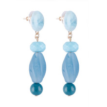 VOITTO Fashion Jewelry Ocean Stone D2 Earrings [Blue]