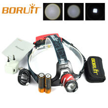 BORUiT B9 LED XP-G2 R5 3 Modes Rechargeable Zoomable SOS whistle 18650 PCB Battery MICRO USB Camping Headlamp Headlight RED