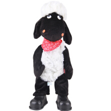 Anamode Standing Anime The Sheep Plush Sucker Pendant Toys Can Walk Sean Sheep Stuffed Plush Baby Dolls Kids Gifts