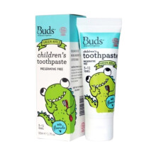 Buds for kids Children's Toothpaste with Fluoride - Green Apple [3-12 years]