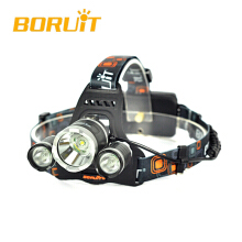 BORUIT 6000LM 3x XM-L T6+2R2 395nm UV LED 18650 Headlamp Headlight Torch+Charger Camping Fishing Cycling Rock Climbing