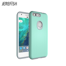 JEREFISH Shockproof Google Pixel Case with Antiskid of Heavy Duty Full Protective Anti Scratch Dual Layer Rugged Cover
