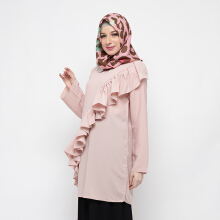 NAFEESA Amberlin Tunik Pink Pink All Size