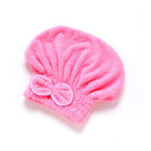 [OUTAD] Super Absorbent Microfiber Hair Dry Cap Fast Head Towel Pink