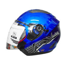 RDX Vendeta Solid Royal Blue Helmet Half Face (Size L)