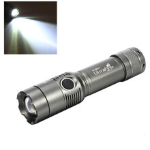 BESSKY 3000Lm UltraFire CREE XML T6 LED Zoomable 18650 AAA Flashlight Torch Light Lamp_ Grey