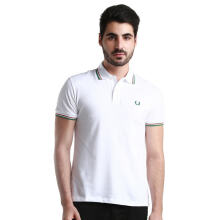Fredperry Men- White Polo wt Red/Green Tipped