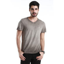 Authentic Fred Perry Men Rugged Charcoal V-Neck T shirt XL