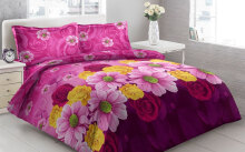 Sprei Bantal 4 Vito Disperse 180x200cm Chrysant Flower - Purple