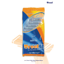 Treet II Skin mate Disposible Razor Platinum isi 5pcs - Pisau Cukur Multifungsi