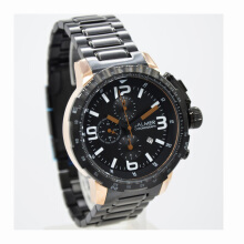 Balmer  Stainless Steel Chain Mens B.7964MBR-828D45HTRG Chronograph Hitam Rosegold Black