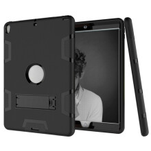 BESSKY  Shock Hybrid Case With Stand Cover Case for iPad Pro 10.5inch 2017_ Black