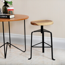 LIVIEN Furniture - Kursi Bangku Stool Besi Light Brown