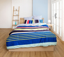 ESPRIT Sprei Set King - Zest Stripe / 180x200x36cm
