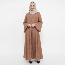 NAFEESA Athaya Dress Brown All Size