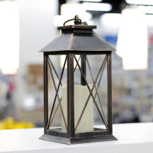 JYSK Plastic Lantern With Led Candle (lilin) Gold