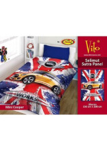 Selimut Vito Sutra Panel 150x200 Mini Cooper - Multicolor
