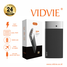 VIDVIE Powerbank PB712 16000 mAh / Battery Charger / Pengisi Daya - Dark Grey