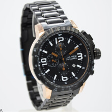 Balmer B.7964MBR-D45H828HTRG Chronograph Stainless Steel Chain Jam Tangan Pria Hitam Rosegold Black