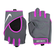 NIKE Womens Pro Perf Wrap Training Gloves  - Dark Grey/Hyper Violet/Metallic Silver [M] N.LG.A9.096.MD