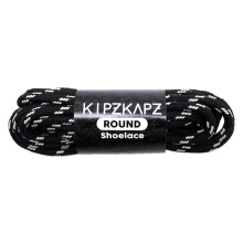 KIPZKAPZ RS4 Round Shoelace - Black White [4mm]