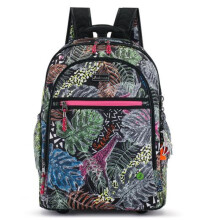 SAKROOTS Rolling Backpack in Black Wild Life