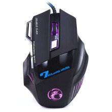 BESSKY 3200DPI LED Optical 7D USB Wired Gaming Game Mouse For PC Laptop Game_ Black
