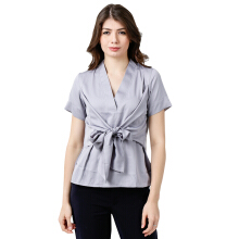 ALERA Official Hanie Knot Top - Grey