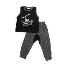 Tiny Button Toddler Boy Joy Morning Setelan Anak - Black Grey