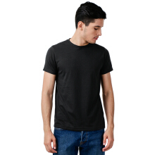 STYLEBASICS Men's Round Neck Basic T-shirt - Black