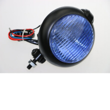 SCARLET RACING -lampu tembak - 189 ons blue glass Black