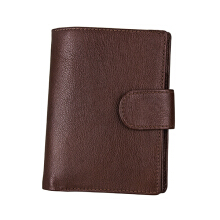 Zanzea RFID Antimagnetic Women Men Leather Multi-slots Card Holder Small Wallet Purse Coffee