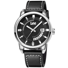 Lee Watch Jam Metropolitan Gents Kulit Hitam M31DSL1-17 Black