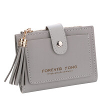 BESSKY Women Simple Retro Letters Short Wallet Coin Purse Card Holders Handbag_