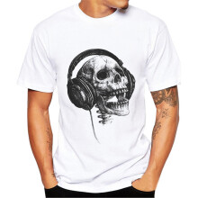 BESSKY Men Printing Tees Shirt Short Sleeve T Shirt Blouse _