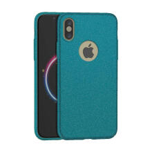 Apple Weika Sand Scrub Ultra Thin Hard Case for iPhone X - Green Green