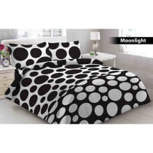Sprei 3D Vito Disperse Queen Bantal 2 Moonlight - Black