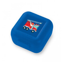 Crocodile Creek Snack Keepr Fire Truck Lunch Box - Blue