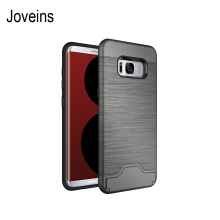 Joveins Samsung S8 Case Shockproof of Heavy Duty Full Protective Cover with Kickstand Dual Layer Wallet Design Case