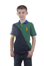 POLO RALPH LAUREN - Cotton Lacoste Polo Shirt Green-Navy-Yellow