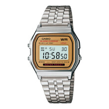 Casio multi fungsi stainless steel chain unisex A159WA-335D37SLGL digital silver gold Silver