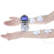Gustala 4 Electrode Health Care Tens Acupuncture Electric Therapy Massage Machine Pulse Body Slimming Sculptor Apparatus Silver