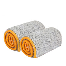 BESSKY Double Sided Non Hand Washing Mop Accessories Dust Push Mop Cloth Clean Tool _ Light Brown