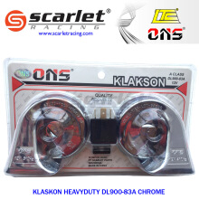 SCARLET RACING -klakson heavy duty -DL900 83A  Silver
