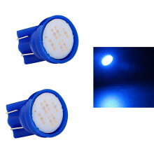 JMS - 1 Pair (2 Pcs) Lampu LED Mobil / Motor / Senja T10 w5w Wedge Side COB 2W Blue
