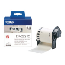 BROTHER Label Tape DK-22212 Continuous Length Film White Tape 62mm