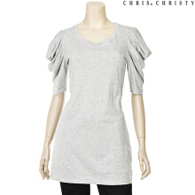 CHRIS CHRISTY Woman slit volume sleeve T GR (KCYASMM1501) Grey XS